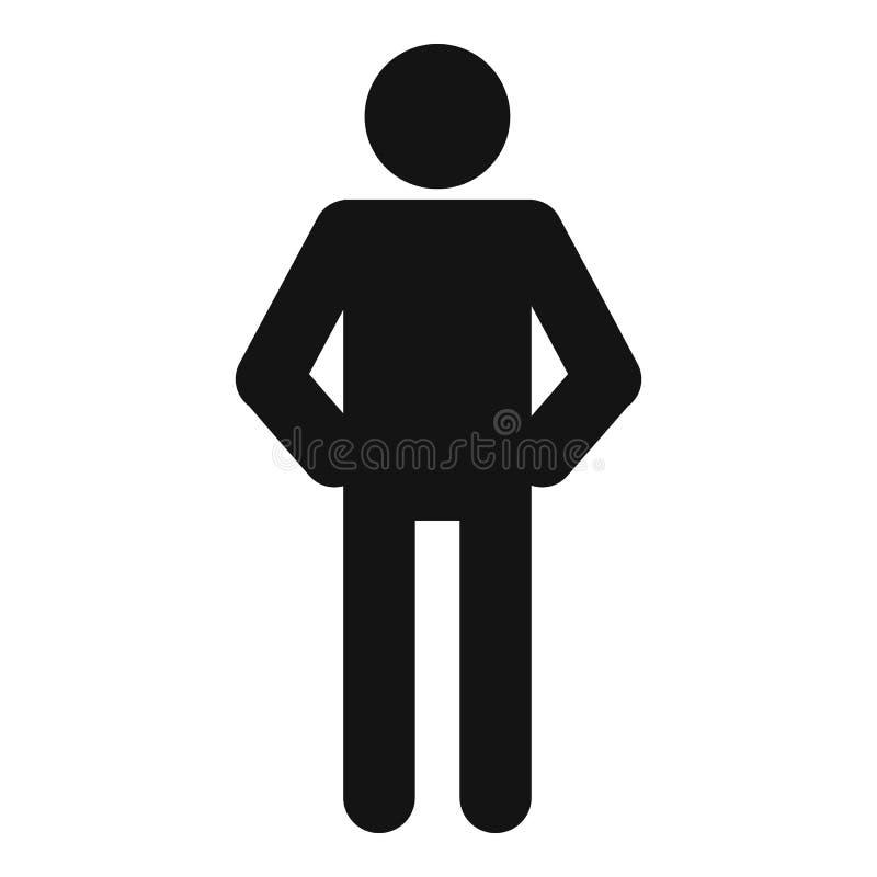 Figura vettore del bastone del pittogramma dell'icona di stickman semplice illustrazione vettoriale