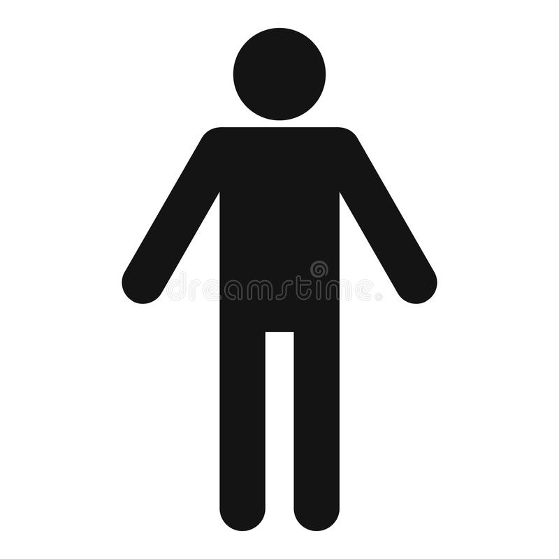 Figura vettore del bastone del pittogramma dell'icona di stickman semplice immagine stock