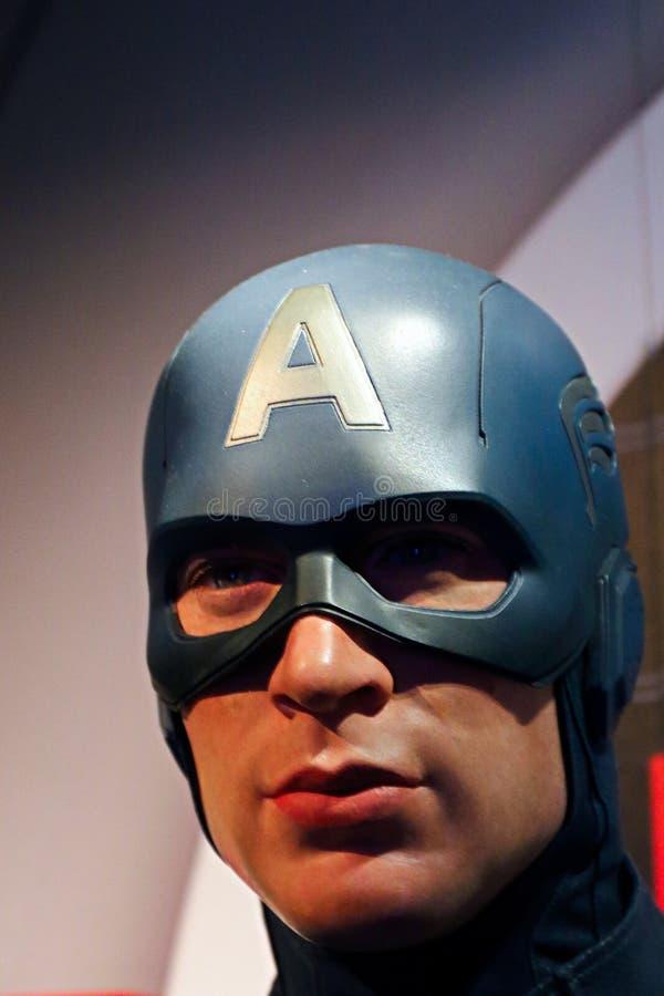 Figura woskowa Bruce Willis przy Madame Tussauds muzeum obraz royalty free