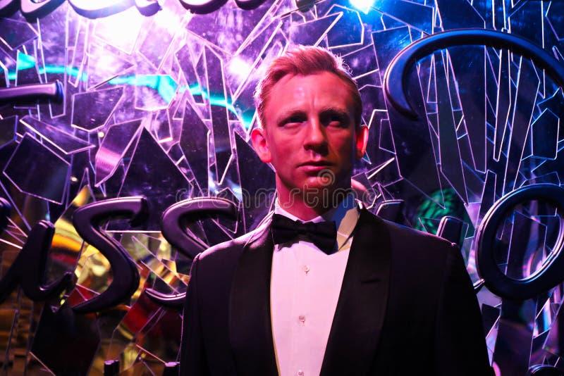 Figura woskowa Bruce Willis przy Madame Tussauds muzeum zdjęcie stock