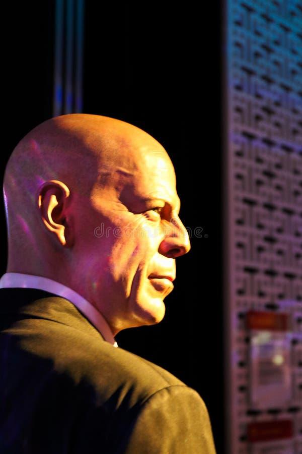 Figura woskowa Bruce Willis przy Madame Tussauds muzeum fotografia royalty free