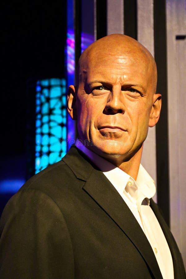 Figura woskowa Bruce Willis przy Madame Tussauds muzeum obrazy stock