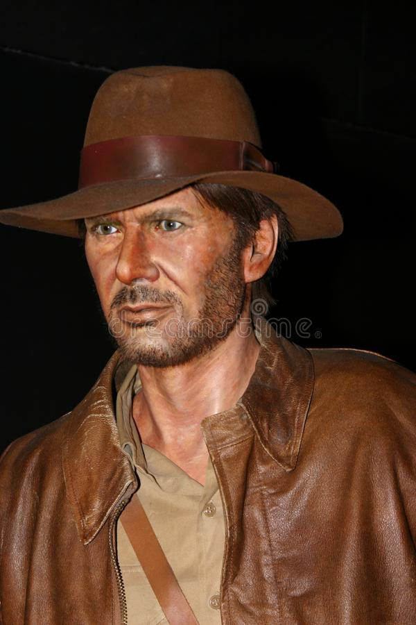 Figura woskowa Harrison Ford jako Indiana Jones obrazy royalty free