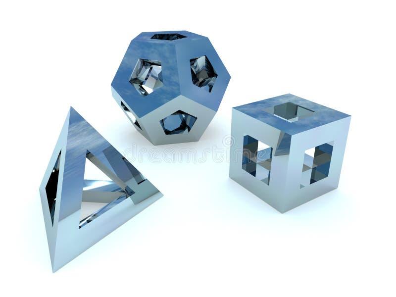 Figuras abstractas ilustración del vector