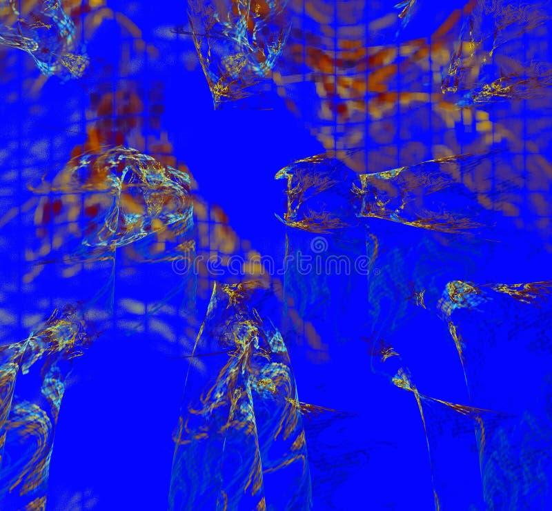 Figuras abstractas multicoloras stock de ilustración