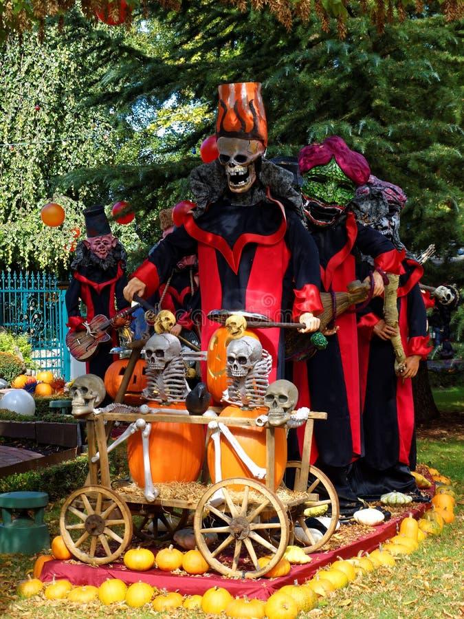 Figuras asustadizas del festival de Halloween fotos de archivo libres de regalías