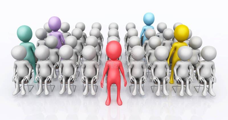 figuras 3D que se levantan en un grupo de las figuras 3D libre illustration