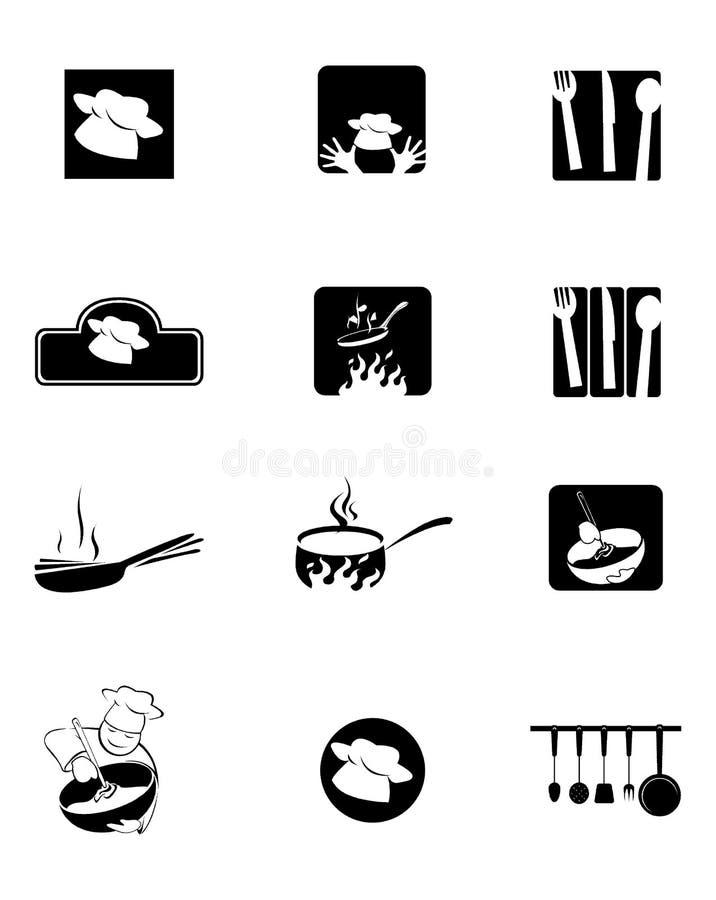 Figuras Da Cozinha, Da Cozinha E Do Cozinheiro Chefe Fotografia de Stock