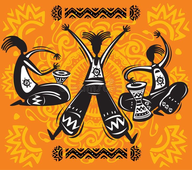 Figuras da dança ilustração stock