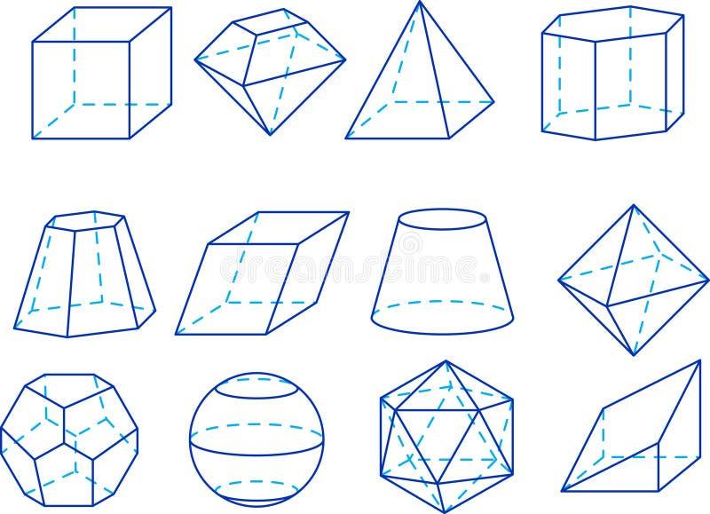 Figuras da geometria ilustração do vetor