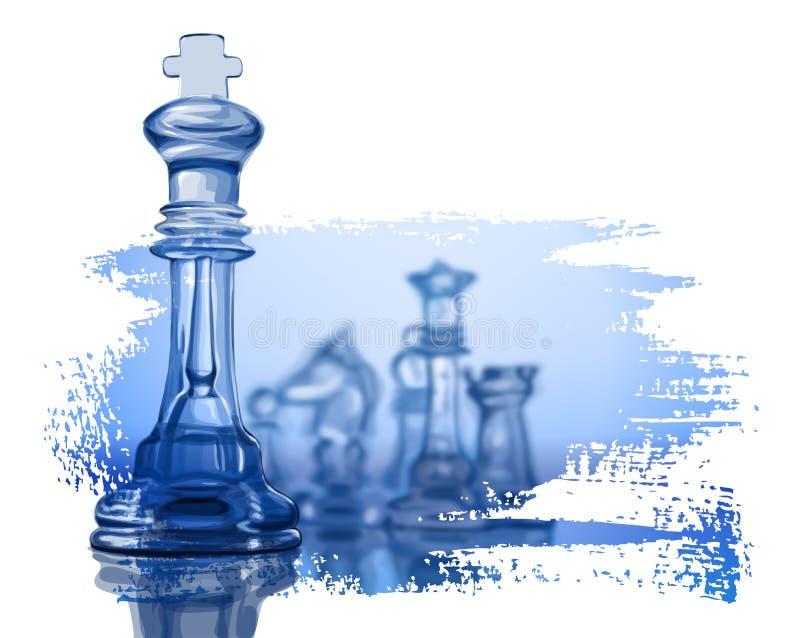 Figuras da xadrez ilustração do vetor