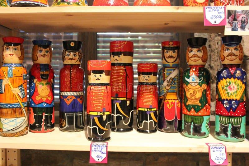 Figuras de madeira dos soldados imagens de stock