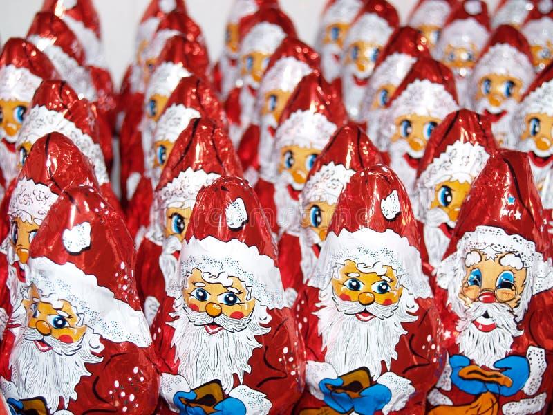 Figuras de Papá Noel fotos de archivo libres de regalías