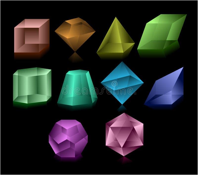 Figuras de vidro ilustração stock