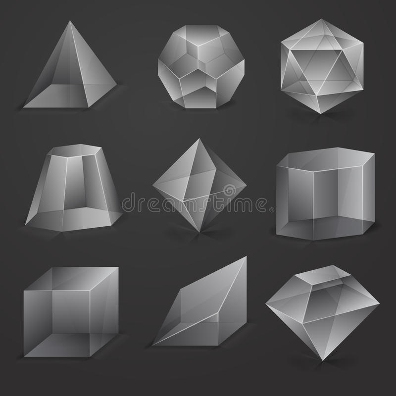 Figuras de vidro ilustração royalty free
