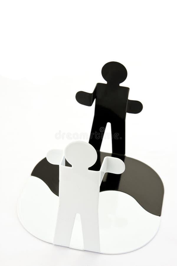 Figuras de Yin e de Yang imagem de stock royalty free