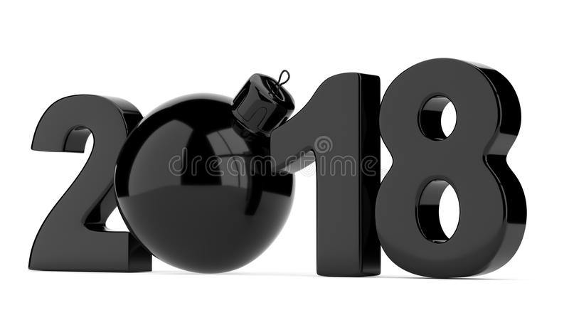 2018 figuras del Año Nuevo aisladas en el fondo blanco ilustración del vector