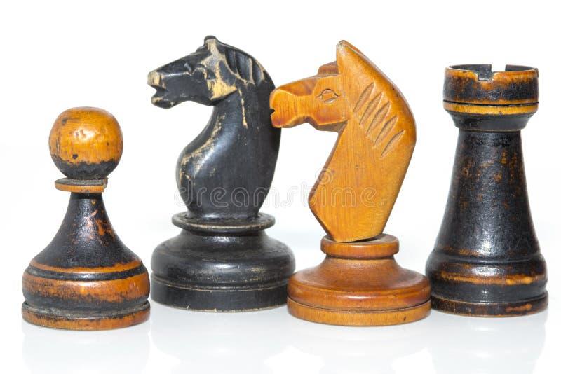 Figuras del ajedrez fotografía de archivo libre de regalías