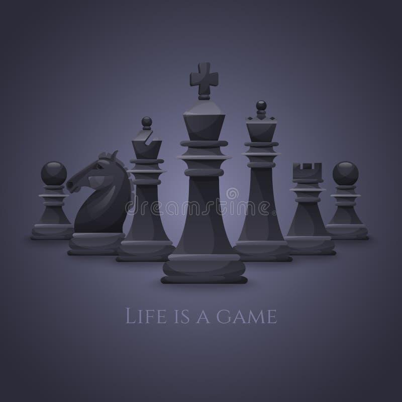 Figuras del ajedrez del vector stock de ilustración