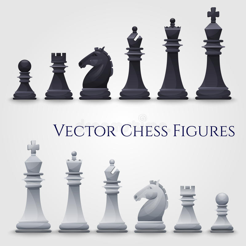 Figuras del ajedrez del vector libre illustration