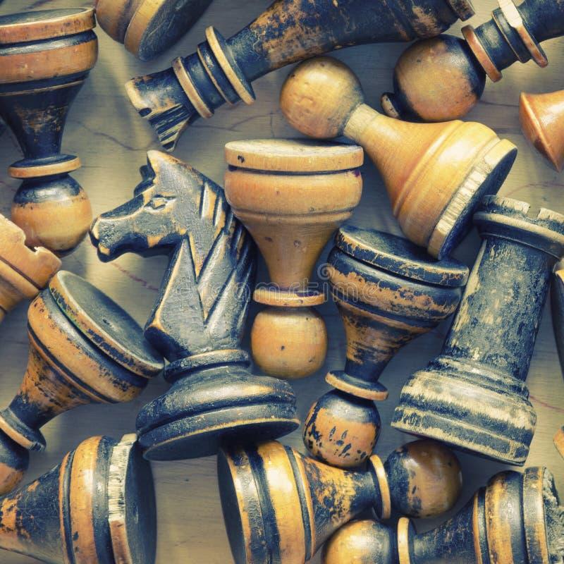 Figuras del ajedrez del vintage fotos de archivo libres de regalías