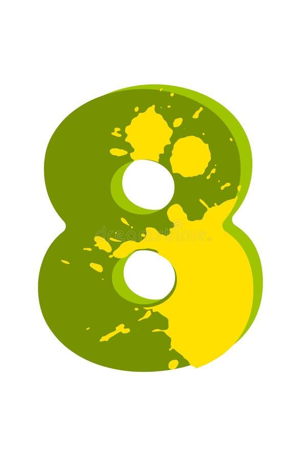 Figuras del dinosaurio para diseñar el cumpleaños o la invitación del partido de Dino, tarjeta de felicitación, etiqueta engomada ilustración del vector