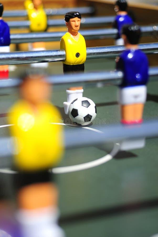 Figuras del fútbol de la tabla fotos de archivo