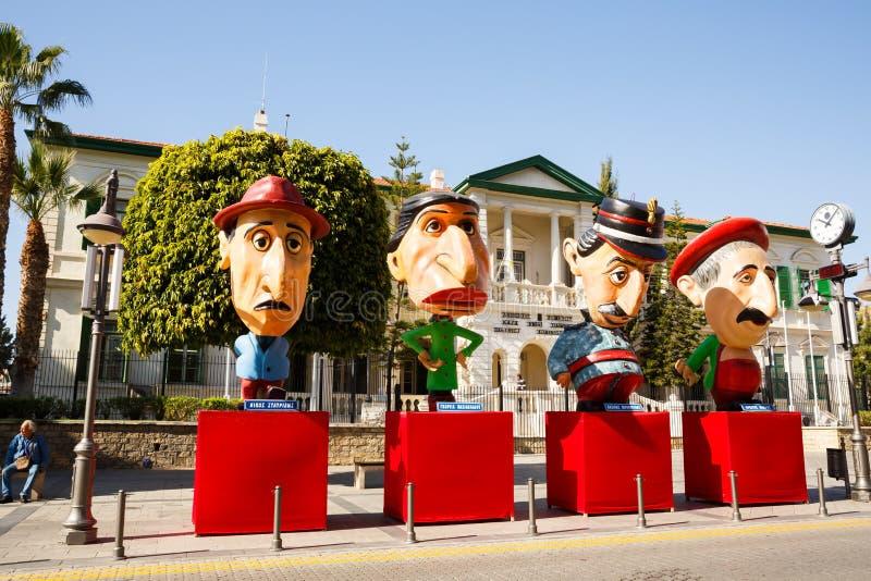 Figuras do carnaval fotografia de stock royalty free