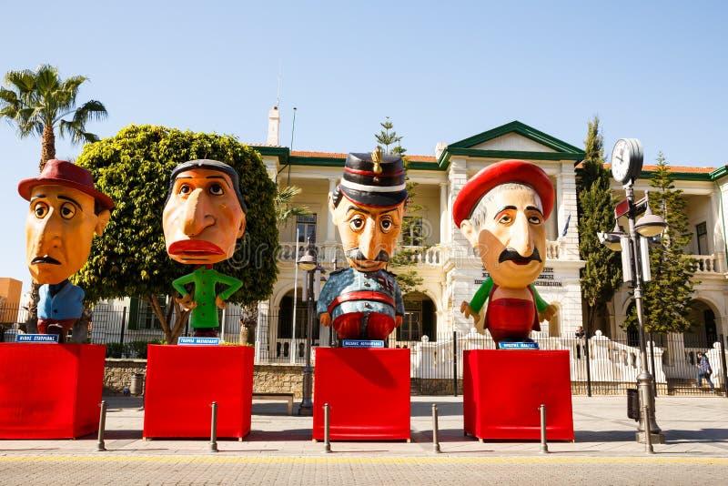 Figuras do carnaval imagem de stock