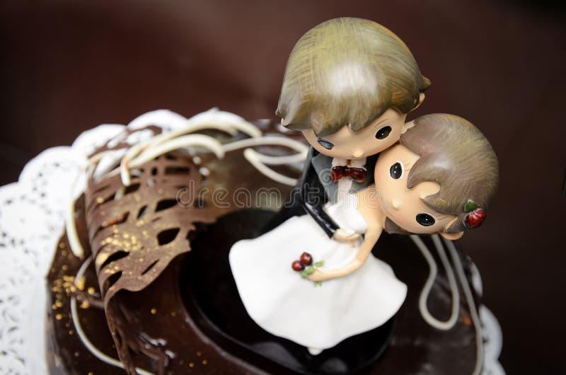 Figuras do casamento fotografia de stock royalty free