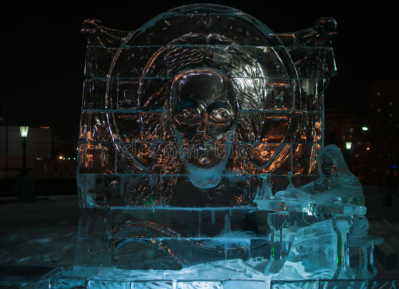 Figuras do gelo imagens de stock royalty free