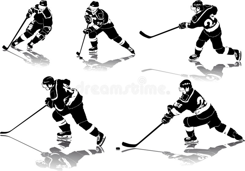Figuras do hóquei de gelo ilustração stock