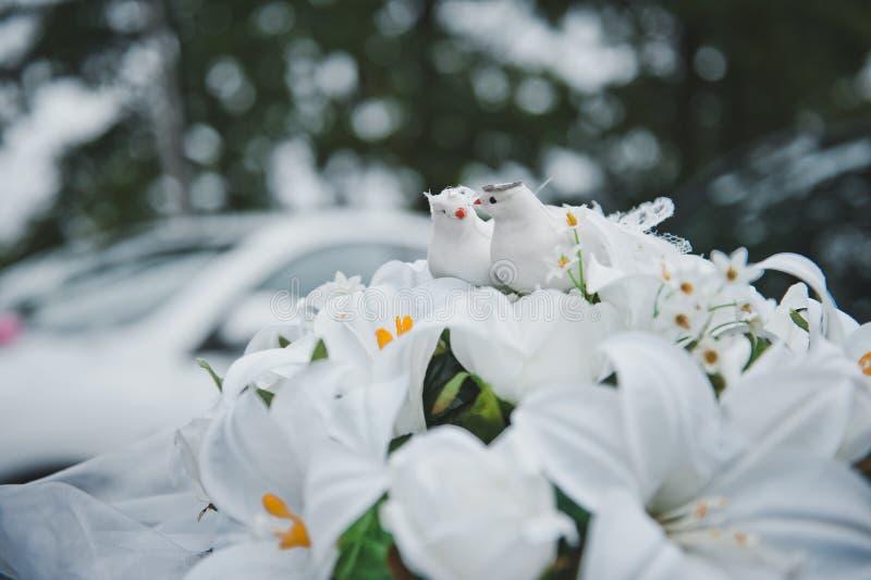 Figuras dos pombos nas flores 2023 imagem de stock