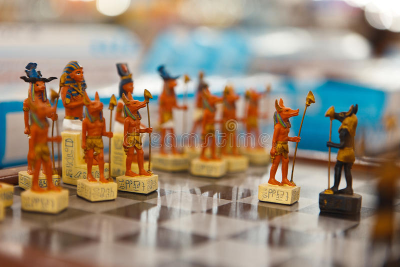 Figuras egípcias foto de stock royalty free