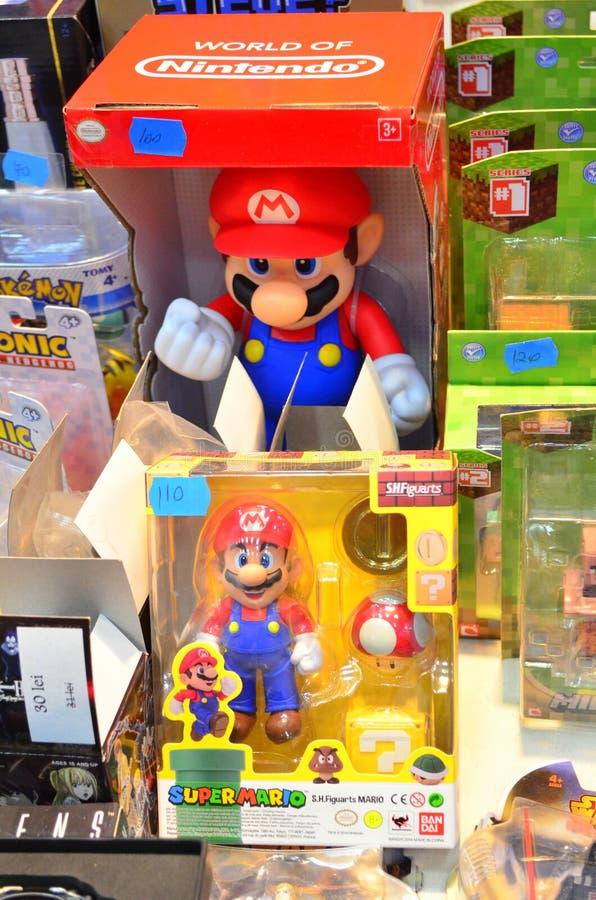 Figuras estupendas de la Bros-acción de Mario imagen de archivo libre de regalías