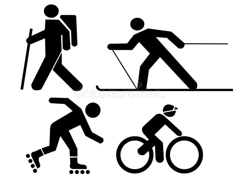 Figuras exercício ilustração do vetor