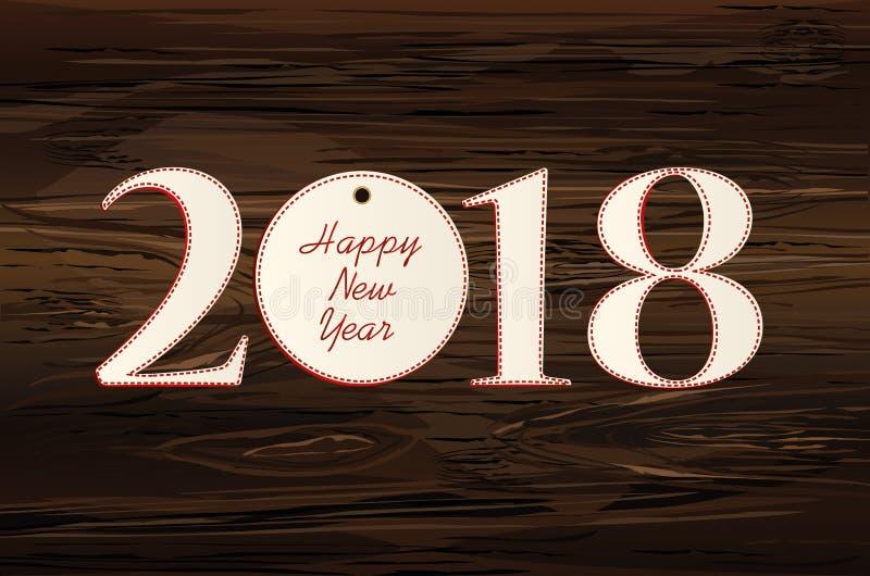 Figuras 2018 fizeram do papel Ano novo, tema do inverno Vetor Gre ilustração royalty free