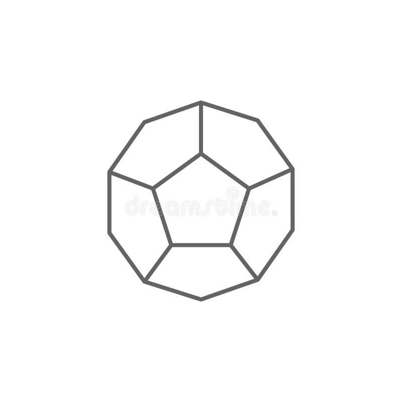Figuras geométricas, icono del esquema del dodecahedron Elementos de las figuras geom?tricas icono del ejemplo Las muestras y los ilustración del vector