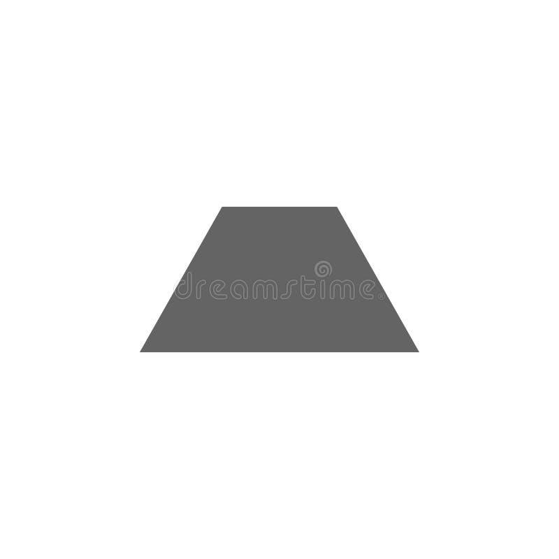 Figuras geométricas, icono del trapecio Elementos de las figuras geom?tricas icono del ejemplo Las muestras y los s?mbolos se pue stock de ilustración