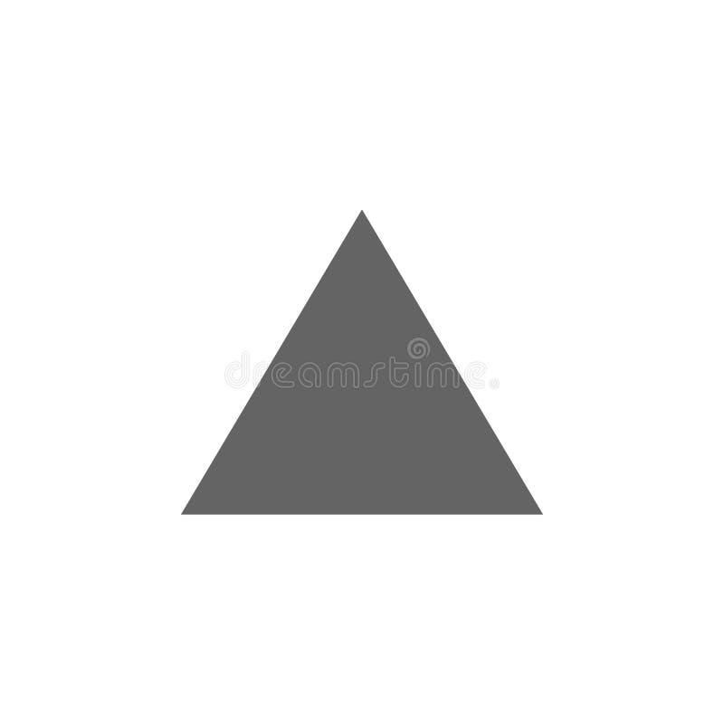 Figuras geométricas, icono del triángulo Elementos de las figuras geom?tricas icono del ejemplo Las muestras y los s?mbolos se pu stock de ilustración