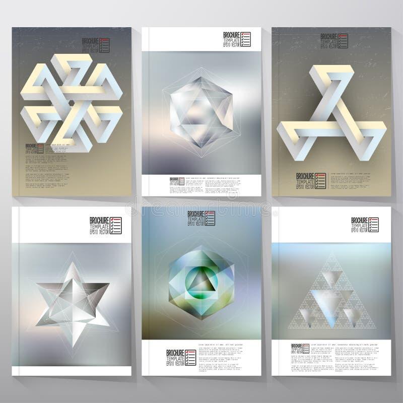 Figuras geométricas imposibles irreales, polígono stock de ilustración