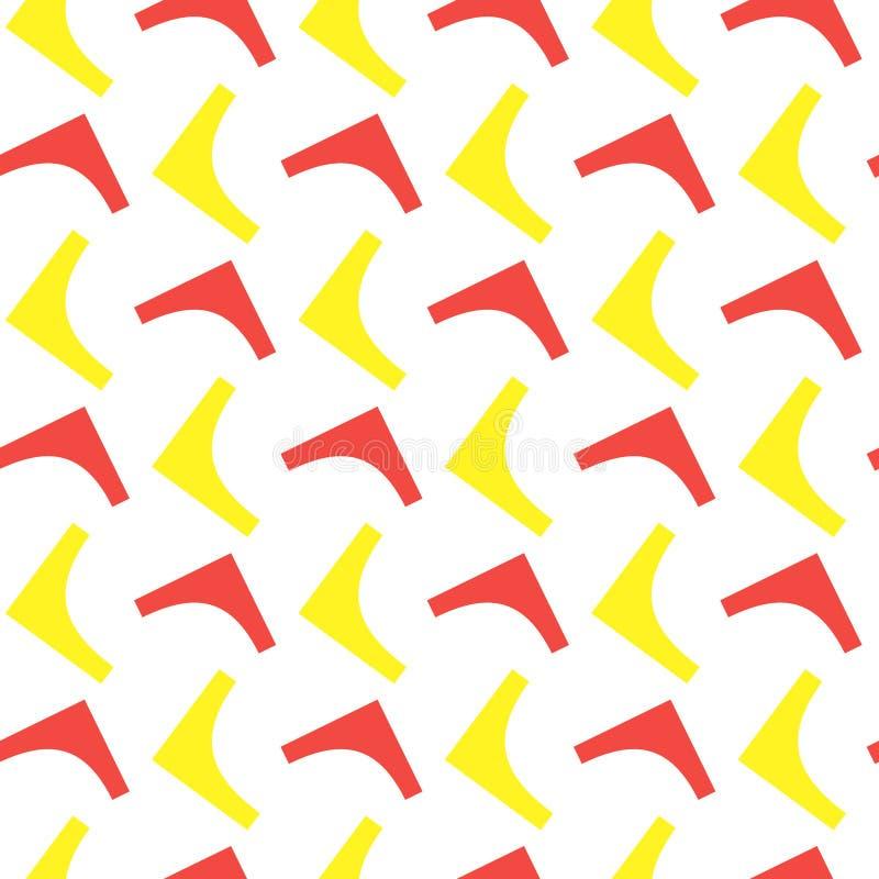 Figuras geométricas teste padrão sem emenda Arte abstrata do vetor ilustração royalty free