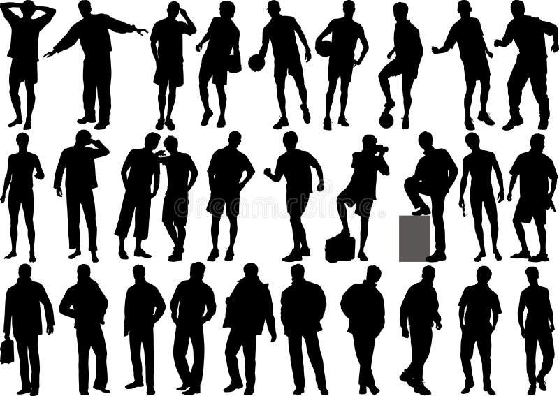 Figuras humanas - alta calidad ilustración del vector