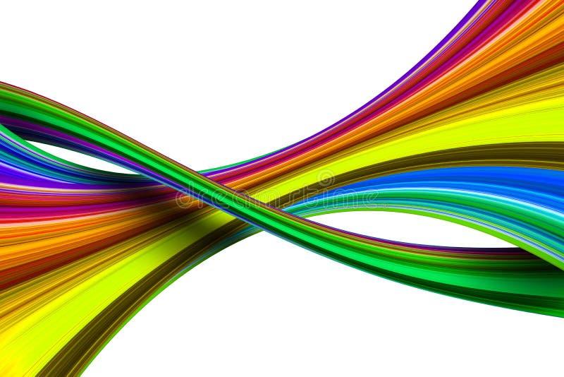 Figuras iridescent coloridas abstratas ilustração do vetor