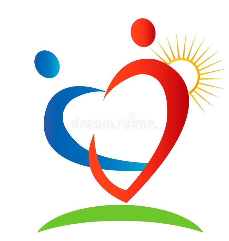 Figuras logotipo dos corações ilustração stock
