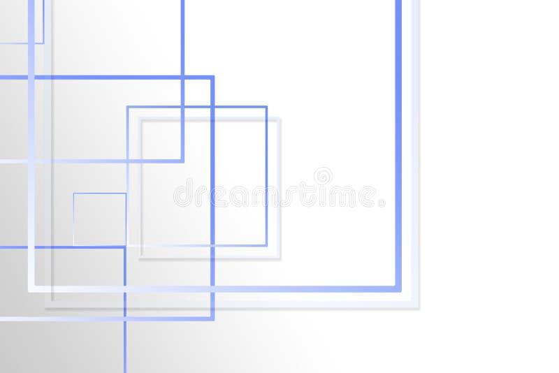 figuras quadradas Multi-coloridas em um fundo cinzento com um lugar sob o texto ilustração royalty free