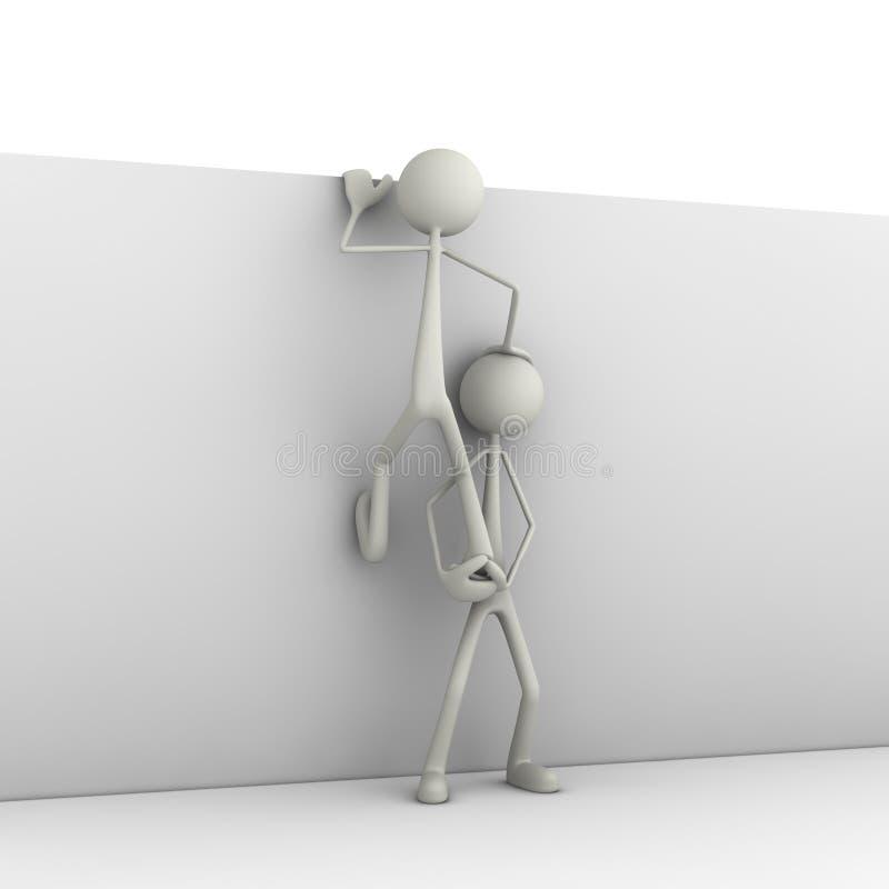 Figuras que suben en la pared libre illustration