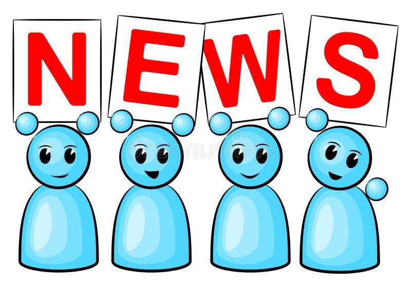 Download Povos da notícia ilustração do vetor. Ilustração de mensagem - 29840843