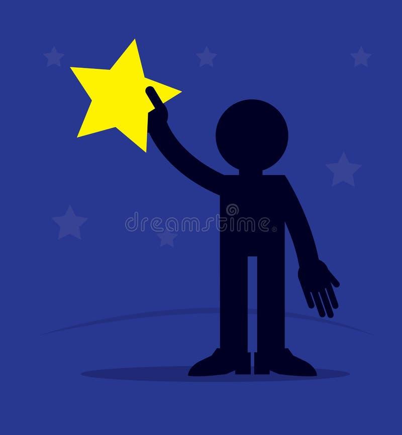 Figure étoile de participation illustration de vecteur
