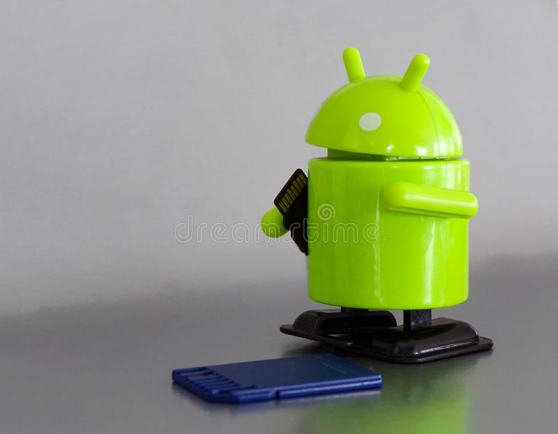 Figure Android close-up. royalty free stock photography